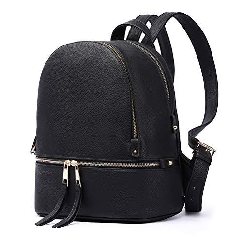 HaloVa Women's Backpack, Mini Shoulders Bag, Trendy Casual Daypack, Black