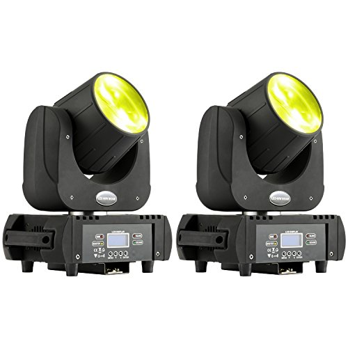 MFL B60 DJ Moving Head Light Led Beam 60W RGBW Yellow Purple 6 Colors Stage Lighting for Big Venue Arena Outdoor Party Live Concert 2 Pack by MFL.