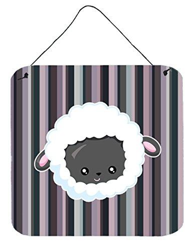 Caroline's Treasures Black Sheep Lamb Face Metal Print, 6