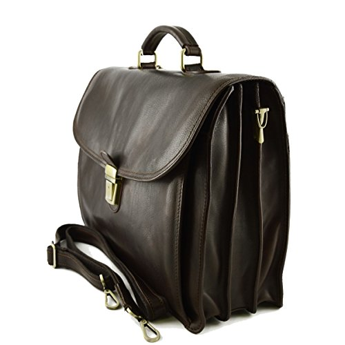 Pelletteria Business Moro Cartella Vera Toscana Colore Pelle Italy Made In In wvXq4O