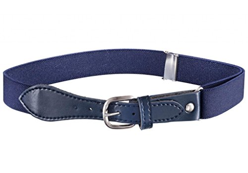 Toddler Adjustable Elastic Belts (Buyless Fashion Kids Elastic Adjustable Stretch Belt with Leather Closure (Available in 21 Colors) - Navy)