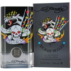 Ed Hardy Born Wild 3.4 Ounce for Men Eau De Toilette Spray - Mens Cologne Ed Hardy