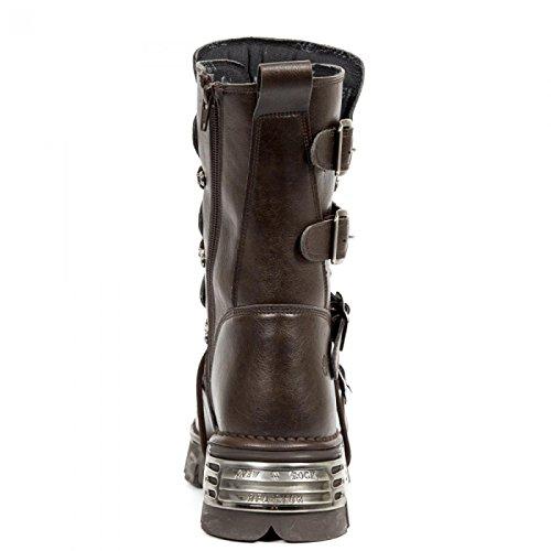 New Rock Boots M.373-v4 Gotico Hardrock Punk Unisex Stiefel Braun