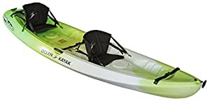 Ocean Kayak Malibu Two Tandem Sit-On-Top Recreational Kayak, Envy, 12-Feet