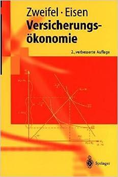 Book Versicherungsökonomie