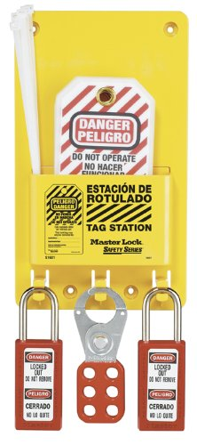 Master Lock Tag Holder, Includes 12 Tags, English/Spanish