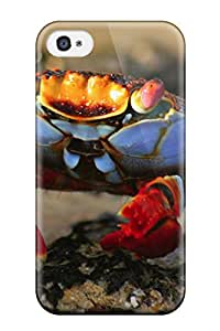 Hot nature animal geographic crab green Anime Pop Culture Hard Plastic iPhone 4/4s cases
