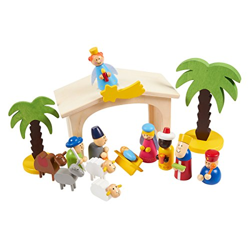 Blue Panda 15-Piece Kids Nativity Set - Christmas Nativity Scene Playset Figures, Great for a Christmas, Secret Santa Gift