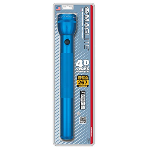 Maglite Heavy-Duty Incandescent 4-Cell D Flashlight, Blue ()