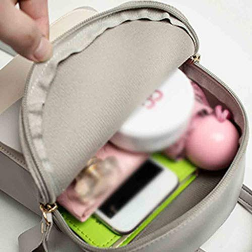 Backpack, Women Teen Girls Fashion Color Block Mini Travel Backpack Messenger Bags Shoulder Bags Satchel Daypack (Gray) by Challyhope Backpack Purse (Image #4)