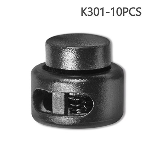 Spring Stop (Double Hole Cord Lock Stoppers Plastic Spring Stop (Double Hole,10 PCS))