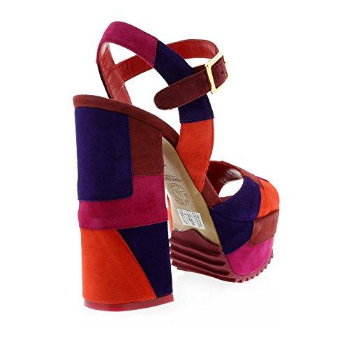 Frankie Stern Patchwork Plateforme Sandale