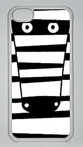 Maydsyb Zebra Custom PC Transparent Case for iPhone 5C