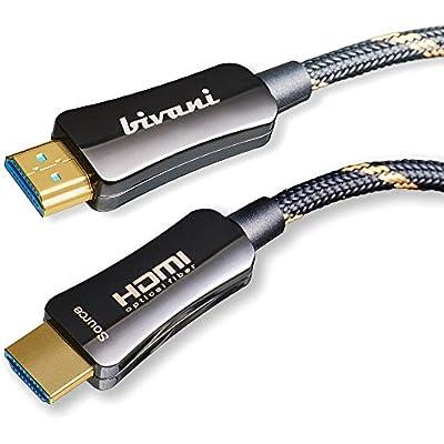 bivani Fiber Optic Ultra High Speed   HDMI 2 1 Cable meters Gbps 10K 8K 60HZ 4K 120HZ hybrid AOC optical Dolby Vision  Dynamic HDR 10   eARC  Ethernet Elite-Series 15m