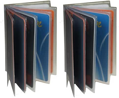 Bullz Heavy Duty Vinyl 6 Pages Insert for Bifold or Trifolds Wallet(Set of 2 )
