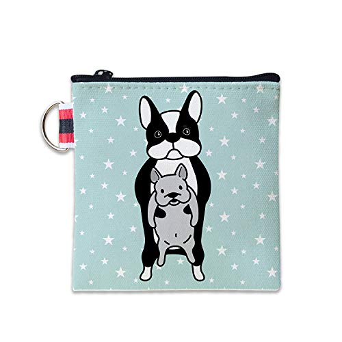 - Baby French Bulldog Canvas Coin Purse Cash Bag Small Zipper Purse Wallets Mini Money Bag Change Pouch Key Holder Double Sides Printing