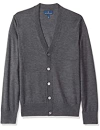 Men's Italian Merino Wool Lightweight Cashwool Cardigan Sweater