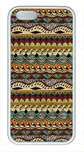 Aztec Brown Pattern Vibe beautiful iphone 5/5s TPU white case by Cases & Mousepads