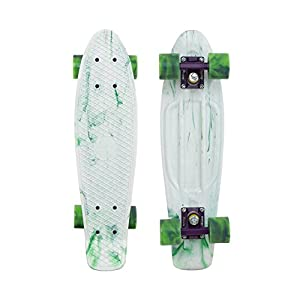 """Penny Limited Edition Plastic Skateboard Marble White/Purple/Green Swirl 22"""" by Penny Skateboards"""