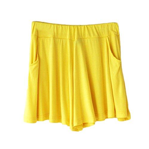 1 Sciolto Gamba Forti Bermuda Shorts Comode Larga Pantaloncini Pantaloncini Yoga Pantaloni GladiolusA Donna Taglie Corti RpqB66