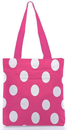 gemacht 13 rosa Dienstprogramm Polyester Snoogg Einkaufstasche Segeltuch 15 aus 5 Shopping Zoll Tupfen x qUWEwWOR