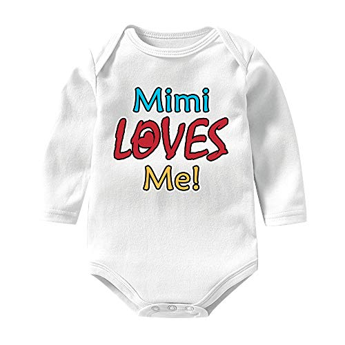 Mimi Loves Me Unisex Baby Girls Boys Bodysuits Long Sleeve Onesies Romper Outfits Jumpsuit]()
