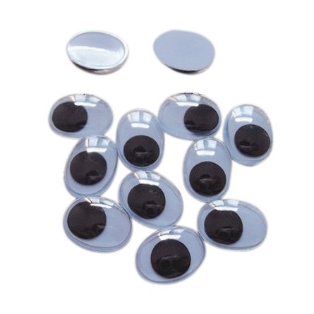 13 mm Oval Googly Eyes