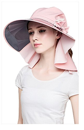 Lady Summer Full Transparent Brim Visor Hat Sunscreen Cycling Cap - Transparent Pink Visor