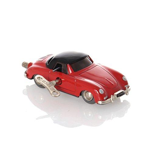 Schuco Tin Toys (Schuco Micro Racer Porsche 356 red/black - Mechanical Tin Toy)