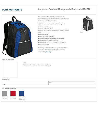 Port Authority luggage-and-bags Port & Company OSFA Twilight Blue/ Black by Port Authority (Image #1)