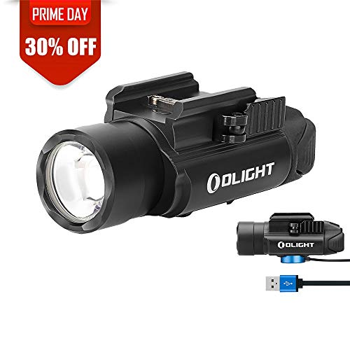 OLIGHT PL-Pro Valkyrie 1500 Lumens Cree XHP 35 HI NW Rechargeable Weaponlight Rail Mount Tactical Flashlight with Strobe (Black) (Best Tactical Flashlight With Strobe)
