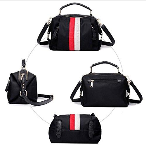 Mujeres Nylon Mochila De Lienzo Pequeña Bolsa Crossbody Top Handle Handbags Red