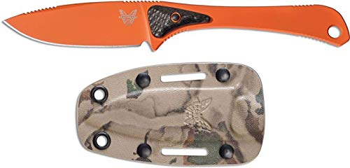 Benchmade - Altitude 15200 Knife, Drop-Point Blade, Plain Blade, Coated Finish, Orange Handle (Blade Orange Handle)