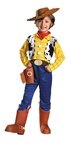 UHC Boy's Toy Story Woody Deluxe Kids Child Fancy Dress Party Halloween Costume, S (4-6) (Cowboy Boot Spats)
