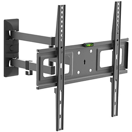 CHARMOUNT Tilting TV Wall Mounts Bracket for Most 26-55 Inch LED, LCD, OLED Plasma Flat Screen Monitor & Curved TV up to 77 lbs VESA 400x400, Full Motion Tilt TV Mount with Swivel Articulating Arm ()