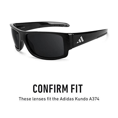 Verres de rechange pour Adidas Kundo A374 — Plusieurs options Rouge Reu MirrorShield® - Polarisés