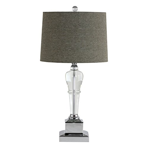 Aspire Table Lamp Candace Crystal, Gray (Table Aspire Lamp)