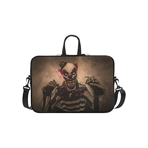Evil Scary Clown Monster Pattern Briefcase Laptop Bag