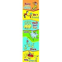 Eureka Dr. Seuss Regreso a la escuela Reglas del aula Decoración de la puerta del cartel, 12 '' x 45 ''