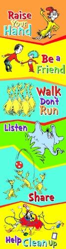 Eureka Dr. Seuss Vertical Classroom Banner, Class Rules, Measures 45 x 12