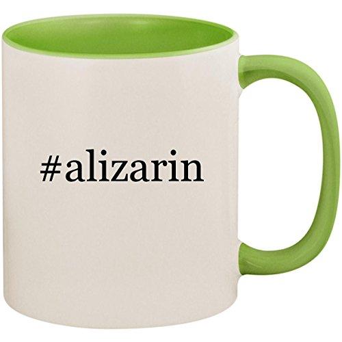#alizarin - 11oz Ceramic Colored Inside and Handle Coffee Mug Cup, Light Green ()