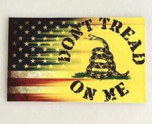 Don't Tread On Me American Flag car Decal | Size 4.5