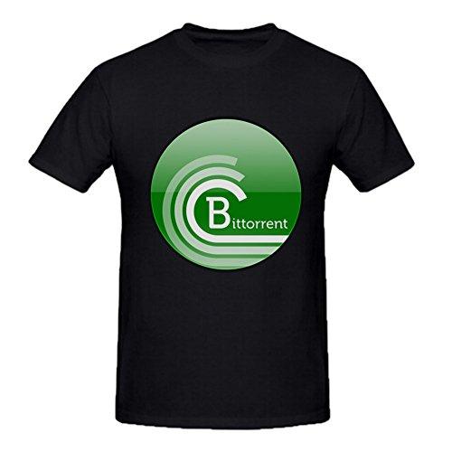 Mens Bittorrent Cotton T Shirts Black