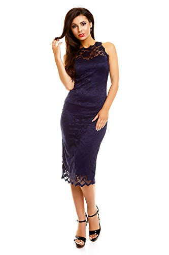 78134e40e3d ... Abendkleid Dunkelblau Ballkleid Mayaadi Cocktailkeid Partykleid Kleid  Hs-261 Festkleid Spitze ...