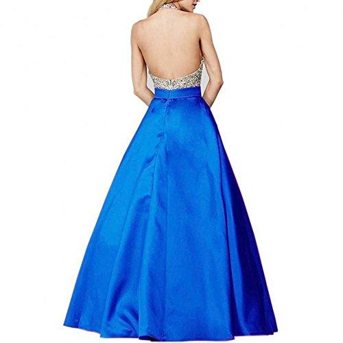Bridal_Mall - Robe - Trapèze - Sans Manche - Femme Multicolore Multicolore 34 -  Bleu - 36