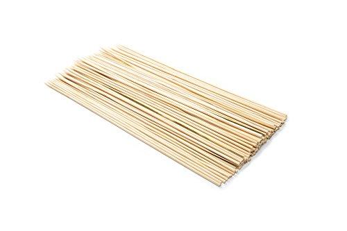 Fox Run marcas brochetas de bambú, Marrón, 1