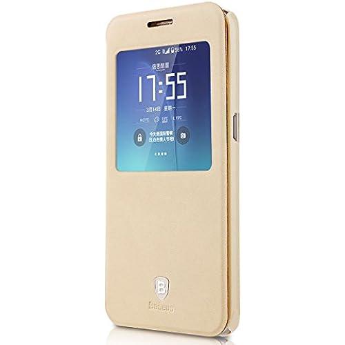Neo Generation Baseus Samsung Galaxy S7 G9300 and Galaxy S7 Edge Flip Case (Galaxy S7 Edge - Khaki) Sales
