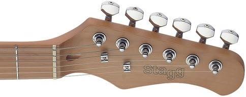 Stagg SES50M-SNB E-Gitarre mit massivem Erlenkorpus Sonic Blau