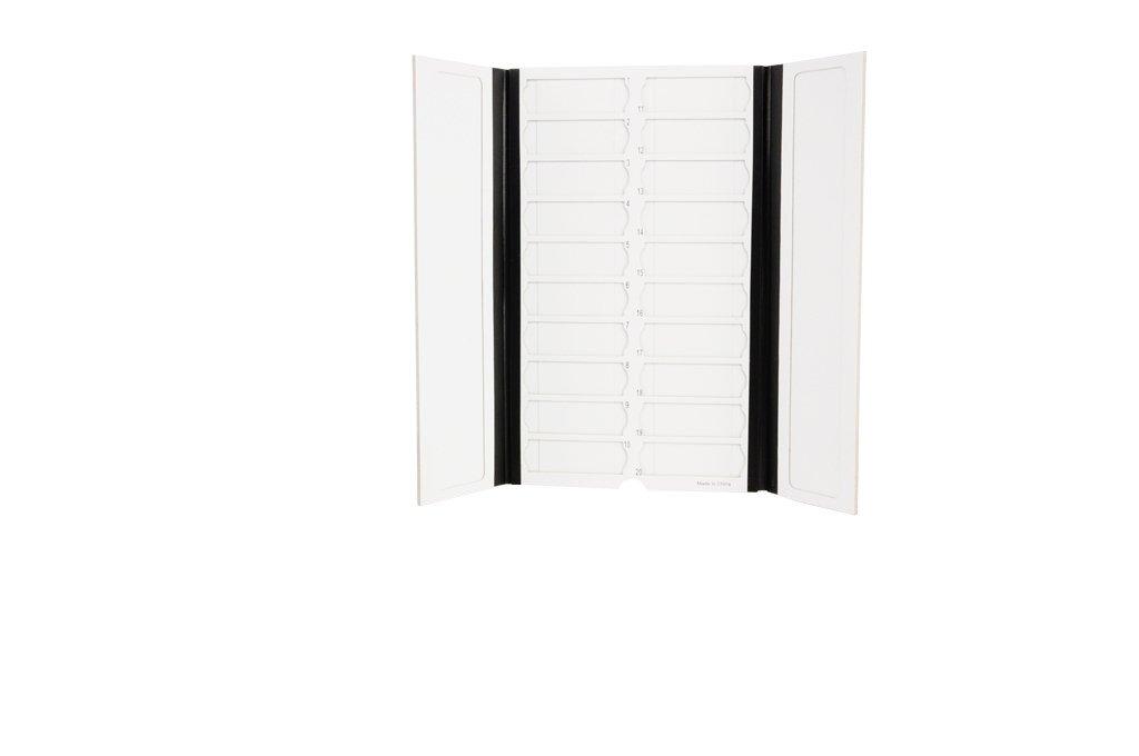 Premiere Brand 20 Capacity Slide Folder, Black, Pack of 2
