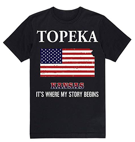Independence Day Shirt - Topeka Kansas KS It's Where My Story Begins Black -